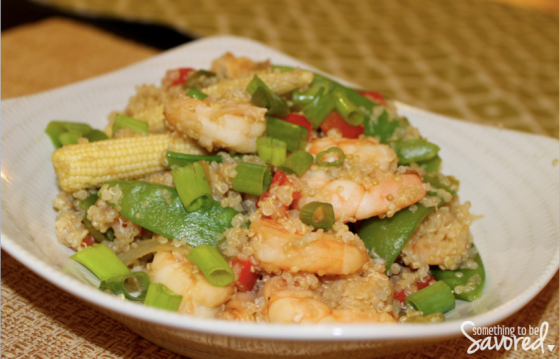 Asian Quinoa and Shrimp | Something to be Savored